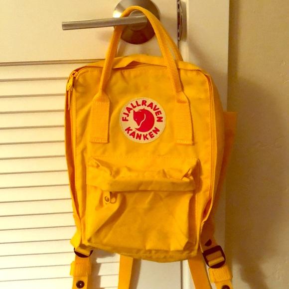 393672e8 Fjallraven Handbags - Fjallraven Mini Kanken backpack in warm yellow